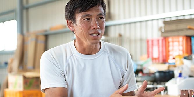 写真:濱野さんが話している様子